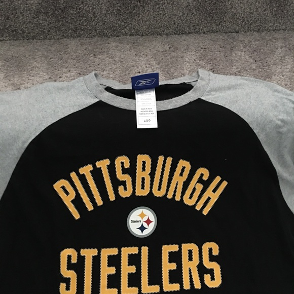 608df00af Reebok Long Sleeve Steelers T-shirt